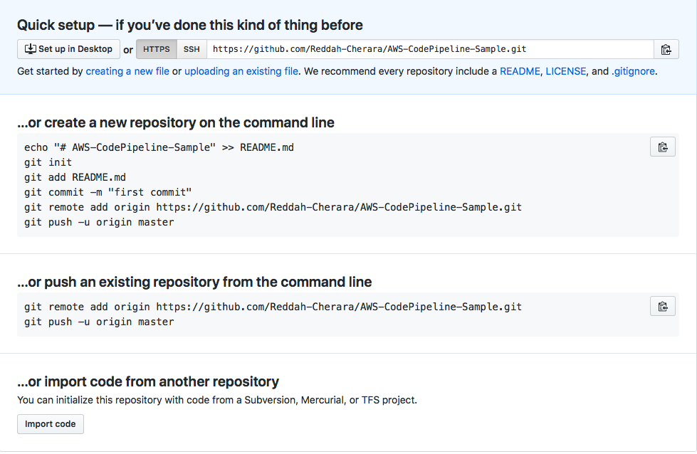 git add project to remote repository